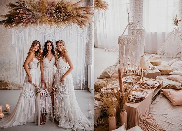 svatební makramé dekorace od Macramali